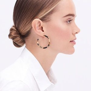 NWT J. Crew Tortoise Hoop Earrings